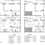 план двухуровневой квартиры, план расстановки мебели