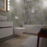 ванная комната, спокойное цветовое решение, красивая сантехника