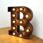 Авторский предметный дизайн, буква из сварного металла, арт объект